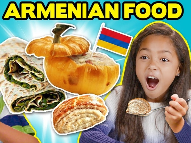 Kids Try Armenian Food For The First Time | People Vs. Food